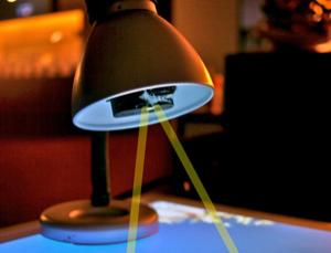 Future on Display: Desk Lamp Turns Table Top Into 3D