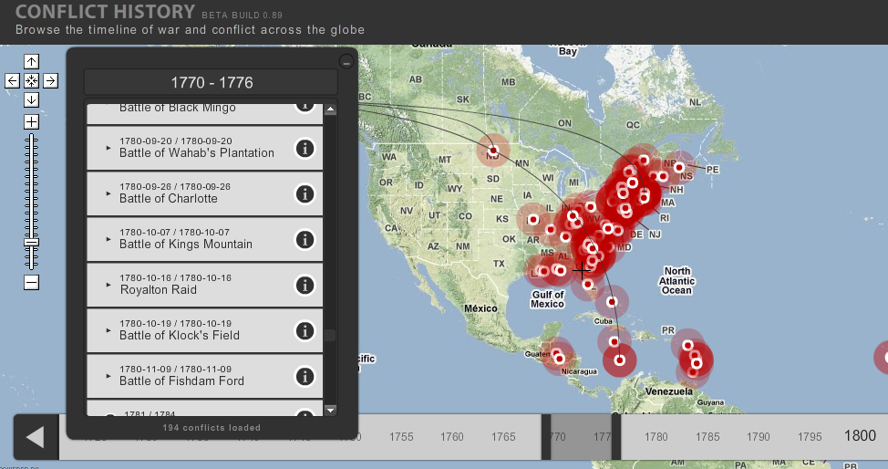 Geography/History tool: Conflict history through maps!